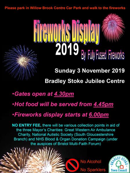 Bradley Stoke Fireworks Display 2019.