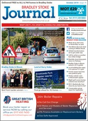 October 2019 issue of the Bradley Stoke Journal magazine.
