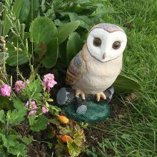 Photo of the owl figure in the display at Manor Farm Roundabout.