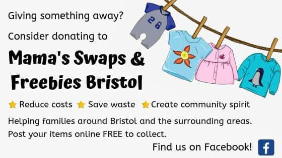 Cover image of the Mama's Swaps & Freebies Bristol group on Facebook.