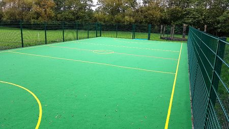 Photo of the new MUGA.