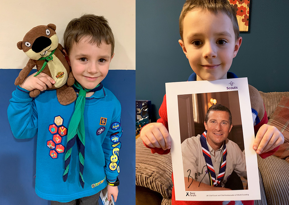 Composite image of Henry Banks, a Beaver in the 1st Bradley Stoke Scout Group.