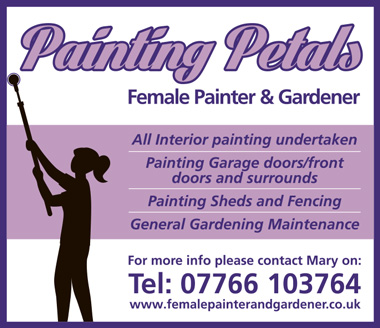 Painting Petals: Female painter & gardener.