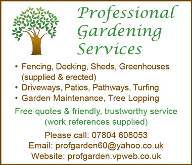 Professional Gardening Services.