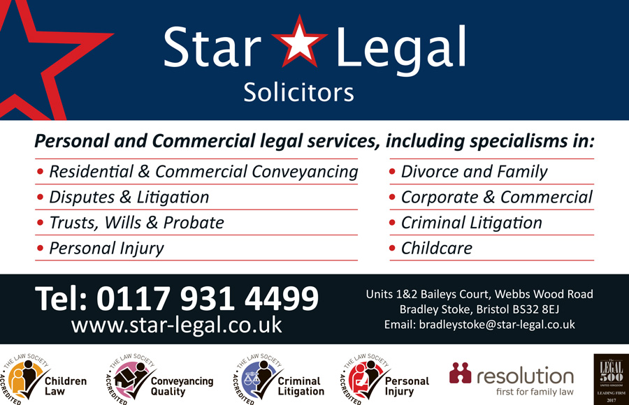 Star Legal Solicitors, Bradley Stoke, Bristol. Personal and commercial legal services.
