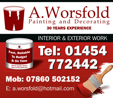 A. Worsfold Painting and Decorating: Serving north Bristol and South Gloucestershire.