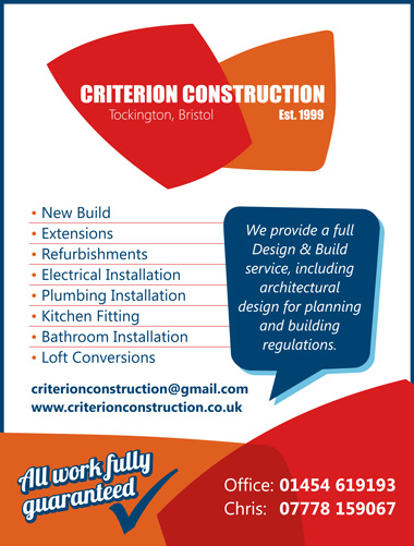 Criterion Construction: Design and build service in north Bristol.