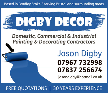 Digby Decor: Bradley Stoke based domestic, commercial & industrial painting & decorating contractors.