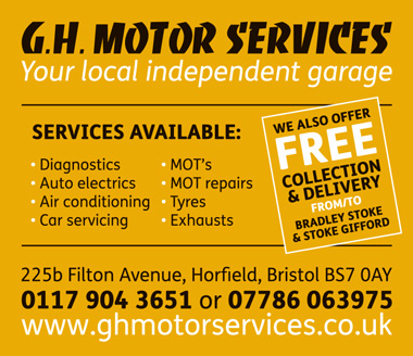 G.H. Motor Services, your local independent garage in north Bristol.