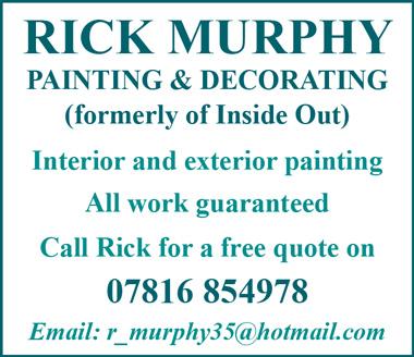 Rick Murphy Painting & Decorating, Bradley Stoke, Bristol.