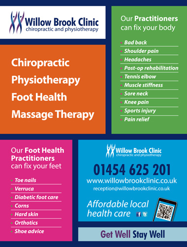 Willow Brook Clinic: Offering chiropractic, physiotherapy, foot health and massage treatments in Bradley Stoke.
