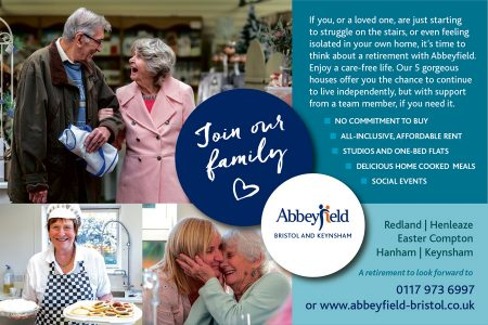 Abbeyfield Bristol & Keynsham: Retirement living for those wanting independence with extra peace of mind.