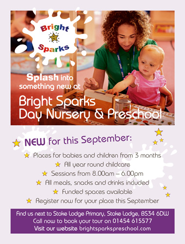Bright Sparks Pre-School, Stoke Lodge, Bristol.
