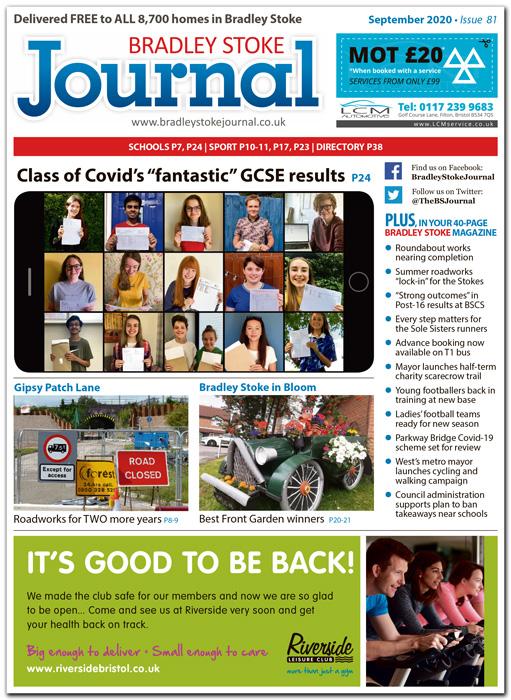 September 2020 issue of the Bradley Stoke Journal news magazine.