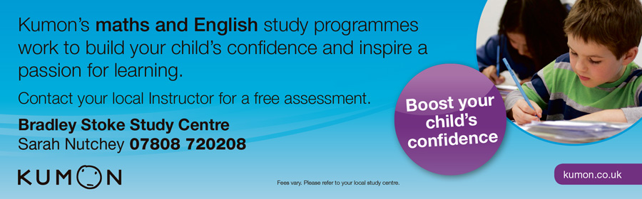 Maths and English tuition at Kumon Bradley Stoke Study Centre.