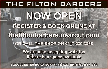 The Filton Barbers, Gloucester Road North, Filton, Bristol.