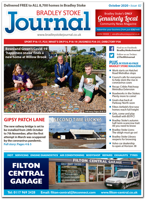October 2020 issue of the Bradley Stoke Journal news magazine.