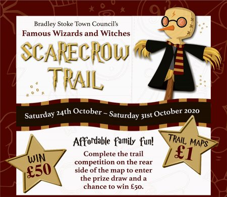 Poster promoting the Scarecrow Trail.