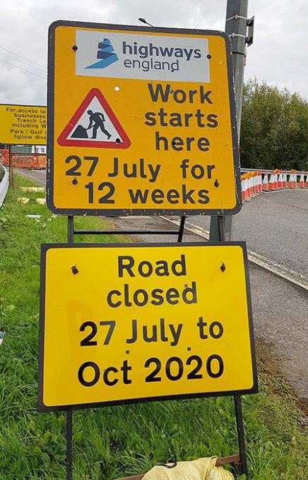 Photo of road closed signage.