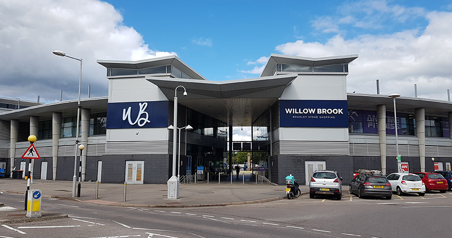 Photo of the Willow Brook shopping centre.