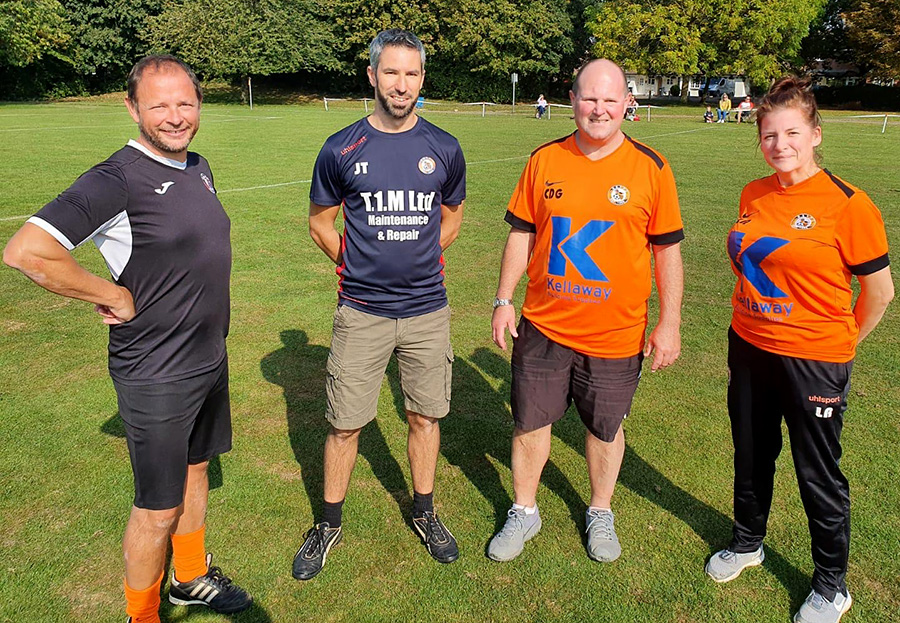 Photo of some of the Bradley Stoke Youth FC Girls' coaches.