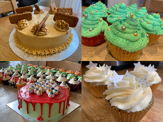 Collage of cakes created by Pearl Bruford.