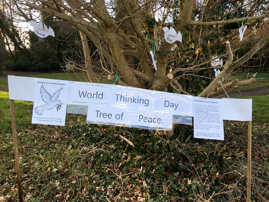 Photo of a sign on the Tree of Peace.