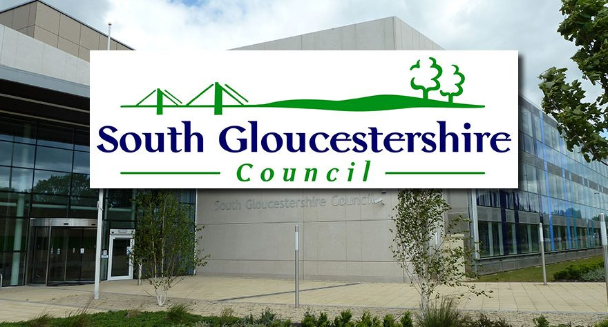Photo of offices with council logo superimposed.