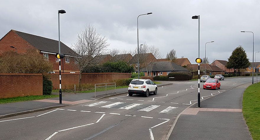 Photo of a zebra crossing.