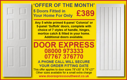 Door Express South West: Internal door specialist serving Bristol and South Gloucestershire.