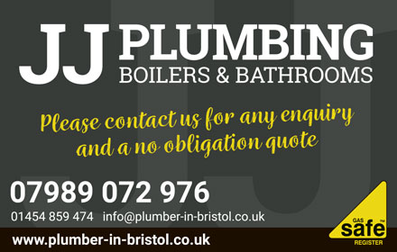 JJ Plumbing boilers & bathrooms; serving Bristol and South Glos.