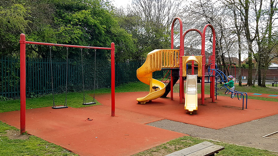 Photo of a play area.