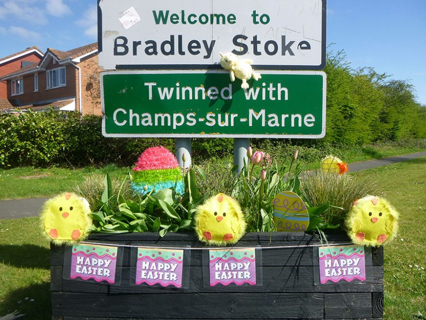 Photo of Easter decorations.