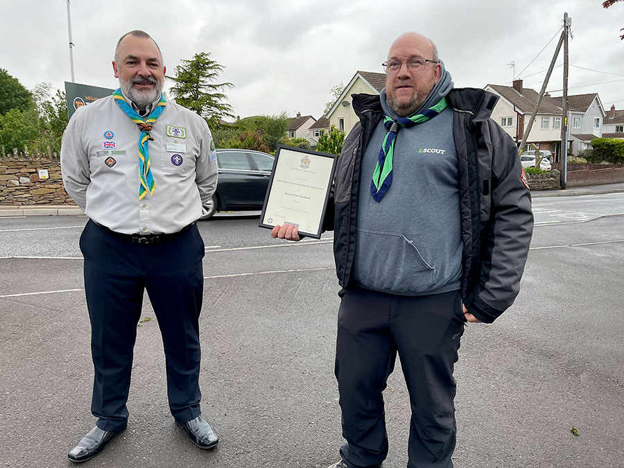 Photo of two Scout leaders.