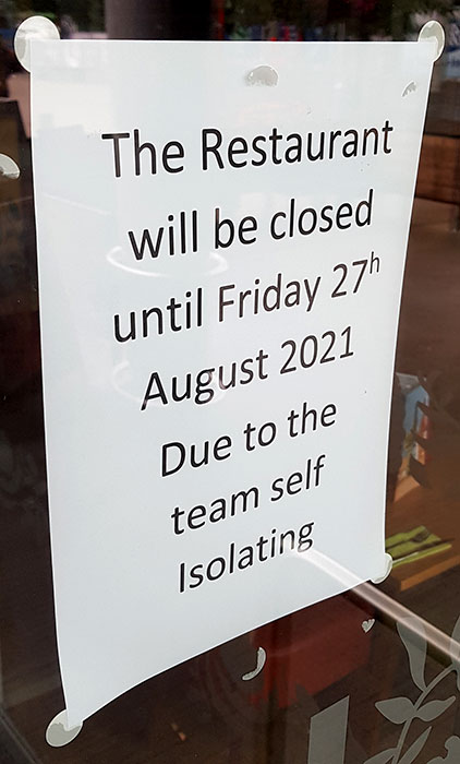 Photo of a notice.